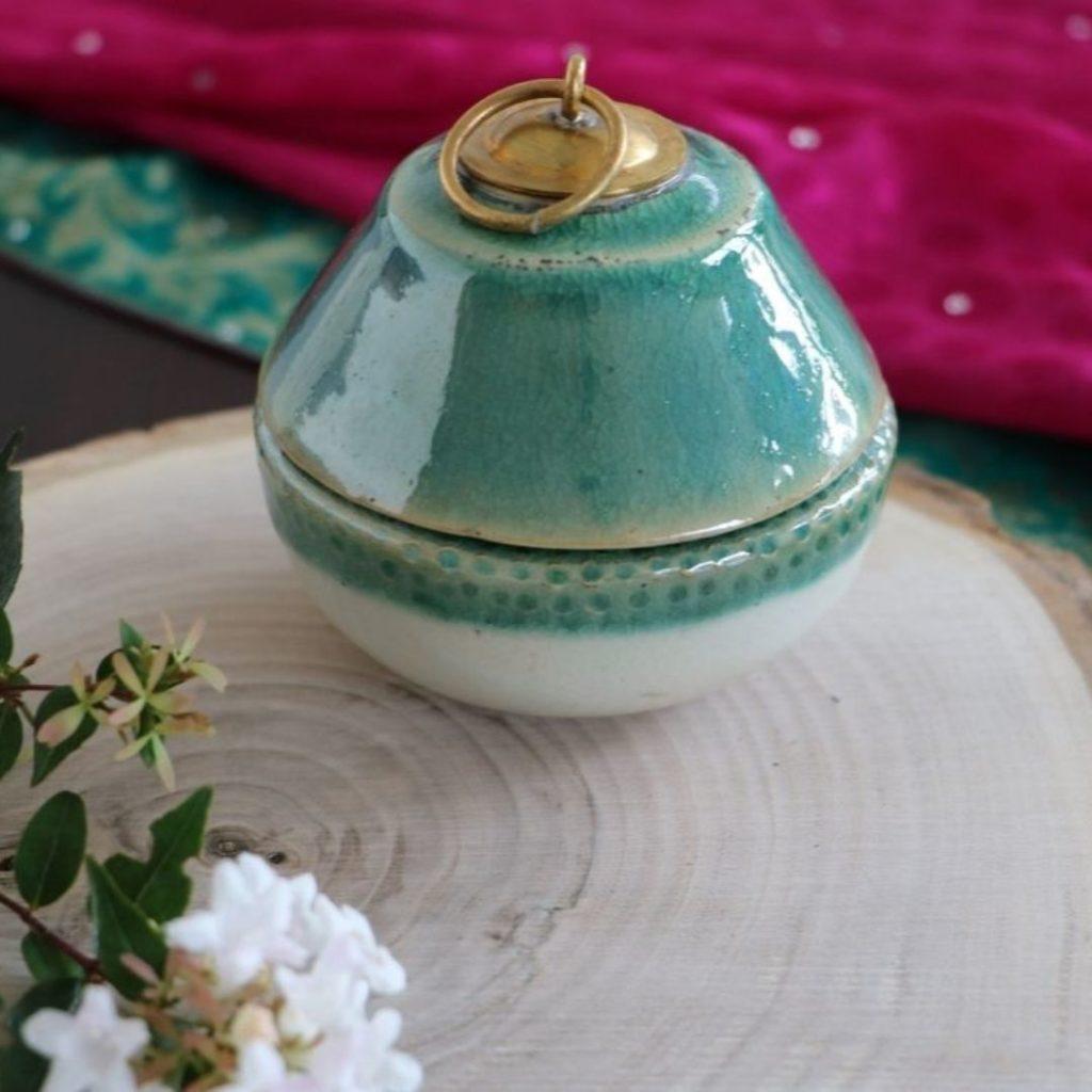 bougie artisanale céramique