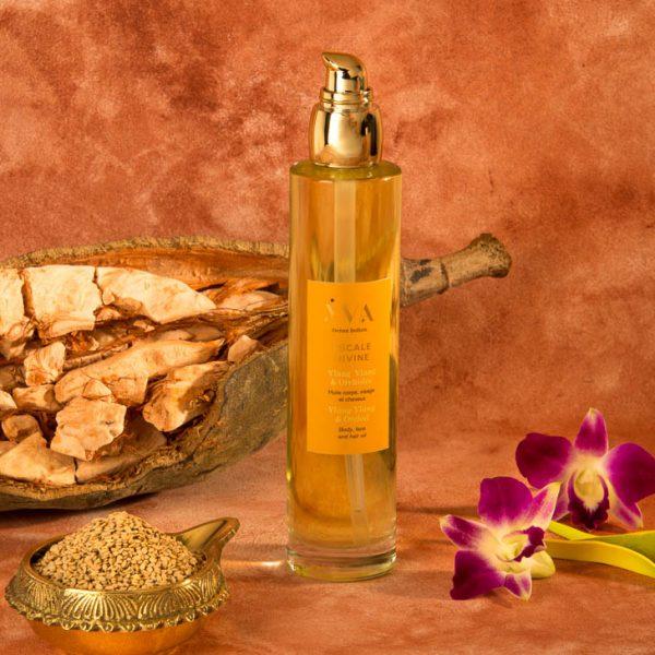 huile corps visage cheveux escale divine ylang ylang et orchidée yva océan indien soins aux plantes de l'océan indien