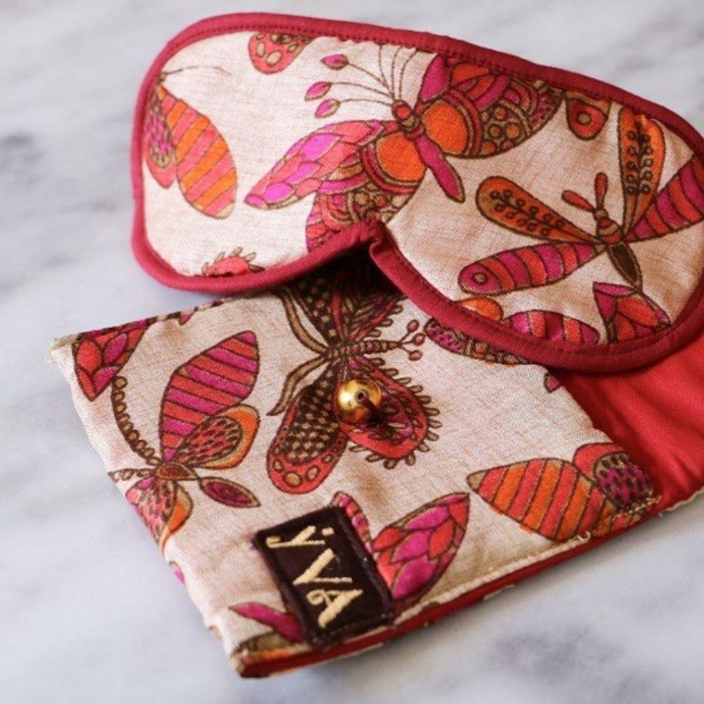 masque de sommeil tissu soie et coton