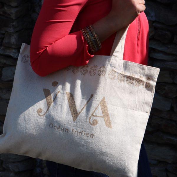 tote bag coton solidaire YVA Océan Indien