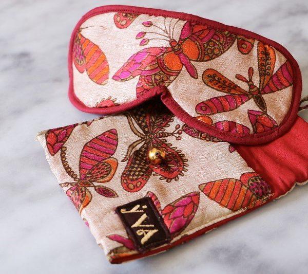 masque de sommeil rouge YVA